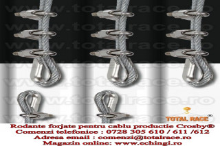 Rodanta forjata pentru cablu tractiune
