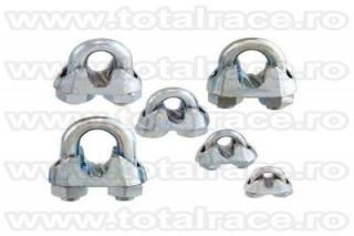 Brida zincata pentru cabluri cu diametru de la 5mm la 40mm